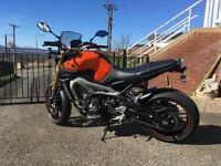 Yamaha mt09 ABS 2014 2650 miles