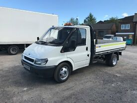 2006 ford transit 2.4 tddi 125 bhp alloy dropside pickup twin wheel