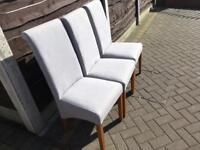 6 nice sky blue coloured fabric chairs
