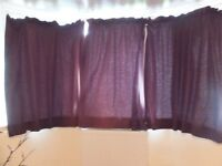 Curtains - 4 panels. Chocolate Brown.