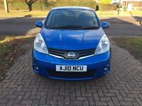 HPI CLEAR, 3 MONTHS WRRNTY, 12 MTHS MOT - NISSAN NOTE ACENTA, 1.4, BLUE, MANUAL, 2010, LOW INSURANCE