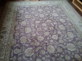 Beautiful wool and silk Chinese rug.