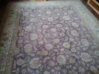 Beautiful wool and silk Chinese rug.