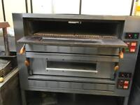 Commercial double deck gas Italian pizza oven commercial catering equipment bakery oven