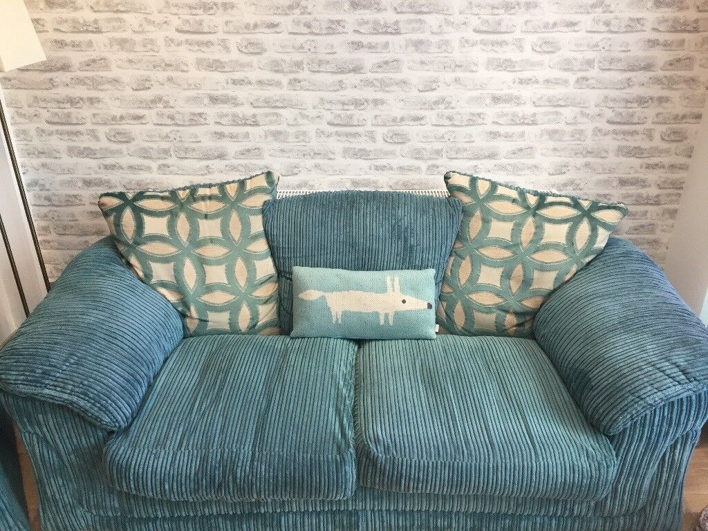 Sofa for sale - teal - two seater
