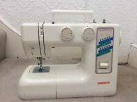 Wimsew sewing machine with carry case and instructions 10 years old but never used