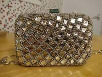 Gorgeous rectangular diamond Quiz clutch bag ONO
