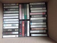 Joblot of Music Cassettes Suit All Tastes 50 Cassettes