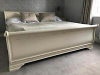Wooden Sleigh Bed Super King Size