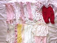 Girls newborn/ first size clothes bundle