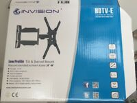Invision Low Profile tilt & swivel mount - wall arm for tv