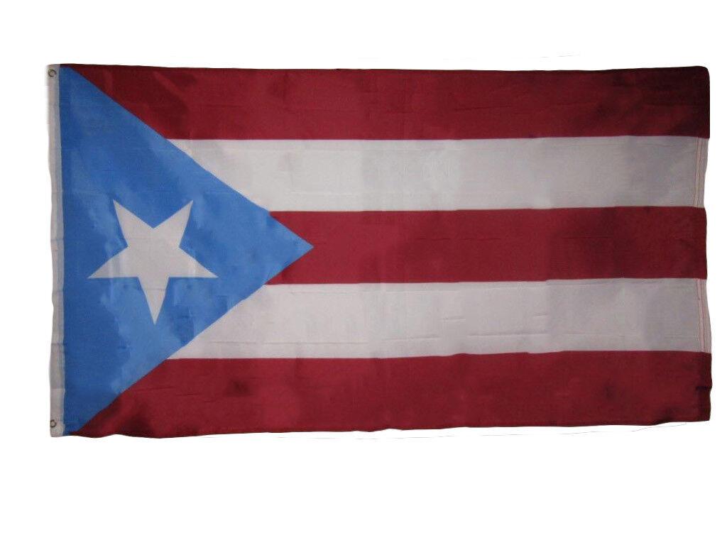 3x5 Light Blue Puerto Rico Rican Flag 3'x5' House Banner Bra