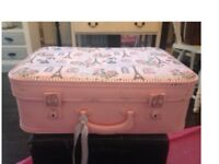 Pretty pink painted suitcase