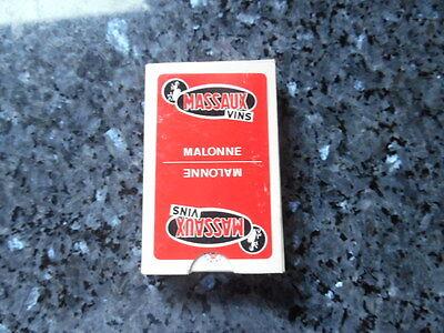 ancien jeu de carte publicitaire vins massaux malonne