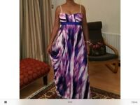 BCBG Designer silk maxi dress Waterfall colours