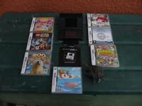 NINTENDO DS LITE BLACK CONSOLE&SEVEN GAMES
