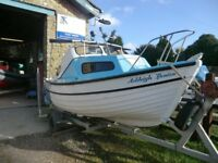 16FT SEA NYPH FISHING BOAT WITH 6 MONTH OLD MARINER OUTBOARD