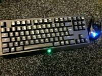 Razer mechanical keyboard and mouse