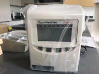 Electronic clocking in machine