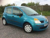 RENAULT MODUS 1.4 5 DOOR MPV LOW MILES 77K FSH 9 STAMPS RECENT CAMBELT LONG MOT NEW TYRES PX