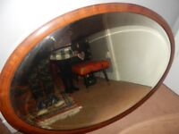 LARGE ANTIQUE OLD Vintage WOODEN HEAVY INLAID INLAY Mirror LIVING ROOM BEDROOM