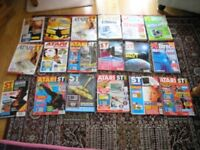 Atari 18 Vintage Computer Magazines Mainly Atari ST User Weymouth Free Local Delivery