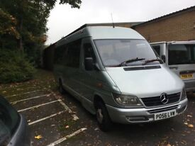 Mercedes sprinter 17 seater mini coach silver