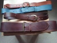 4 leather belts