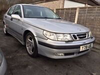 2001 SAAB 9-5,2.3L PETROL,170BHP,LEATHER INTERIOR,HEATED SEATS,MOT FEB.2018,CRUISE CONTROL,ALLOYS
