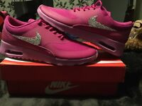 Nike air max Thea new boxed beautiful Swarovski crystals trainers great for xmas