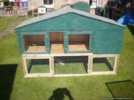large 6ft rabbit hutch