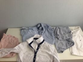 4 zara shirts and tommy hilfiger- size 8