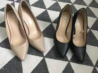 2 pairs of heels - size 5