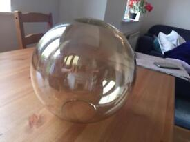 Excellent condition glass light shade with original packaging