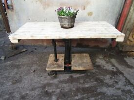 Console Table Industrial made from Potato Scales,industrial,Vintage,Antique,Reclaimed wood Table,