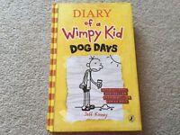Diary of A Wimpy Kid Dog Days by Jeff Kinney hardback book New