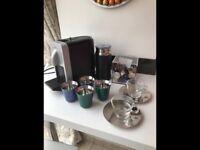NESPRESSO coffee machine with new boxed accessories