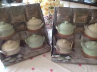 8 x lovely terracotta serving pots