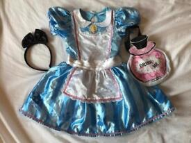 Disney Alice in wonderland costume aged 2-3