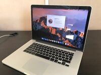"""Apple MacBook Pro Retina 15.4"""" 2.4GHz Intel i7 16GB-DDR3 251GB-SSD"""