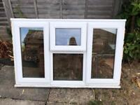 Double Glazed Triple Window with Fan Light