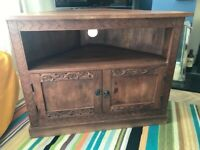 Myakka mango wood corner tv unit