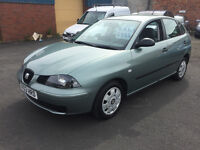 Seat Ibiza 1.2 12v 5dr - 2003, 2 Owners, 65K Miles Warranted, Immaculate condition, CHEAP £895!