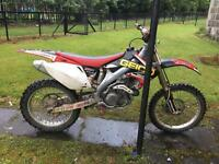 2005 crf450 looking to swap for 125/250 2 stroke