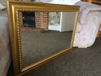 LARGE GOLD ORNATE MIRROR