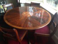 Mahogany table and chairs