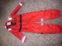 Mullion Thermotic Flotation suit - unused - size medium