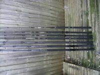 HI FOR SALE 3 GREYS BOAT RODS GOOD CONDITION AND ONE LEEDS 20- 30LBS PIRANHA ROD