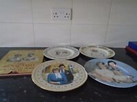 royal family collectables plates and book 5 items