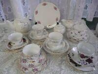 Mismatch 22 piece Teaset with Teapot